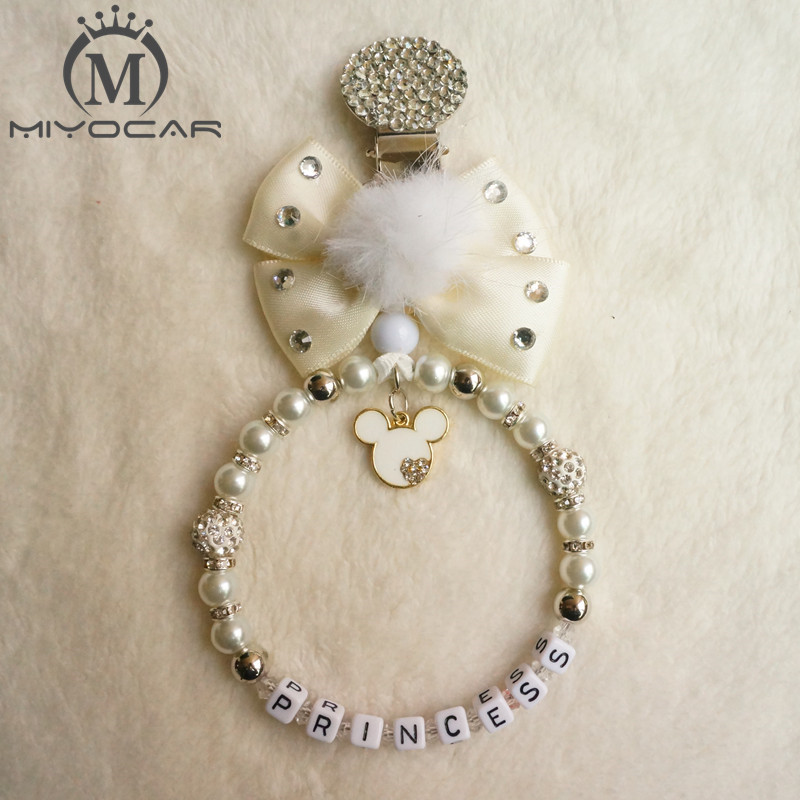 MIYOCAR Personalised --Any Name Stunning Bling Lovely Baby Pram Charm Baby Stroller Accessories Toy For Baby Boy Girl Ideal Gift