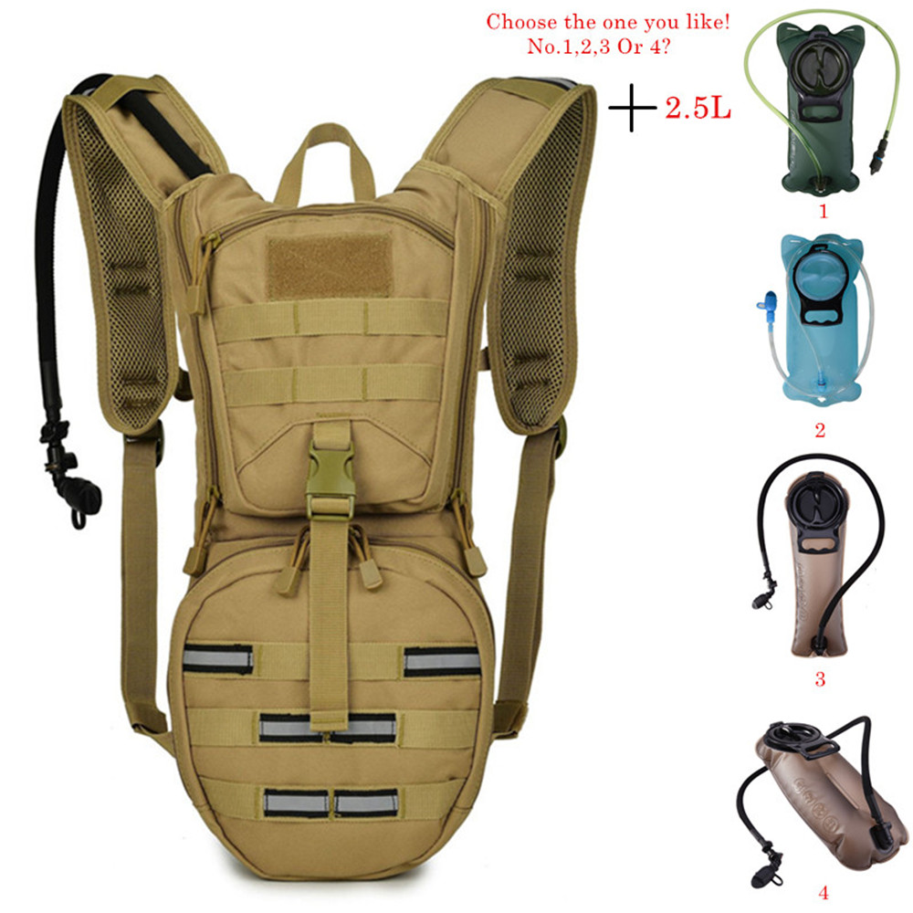 2 5L Water Bag Molle Military Tactical Hydration Backpack Outdoor Camping Camelback Nylon Camel Water Bladder