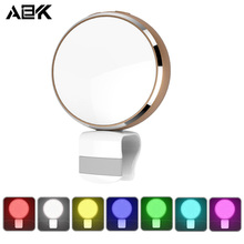 ALBK Seven Colours Selfie 2 in 1 LED Fill-in Flashlight Clip Adjustable Lightness with Mirror for iPhone Android Digicam Lense