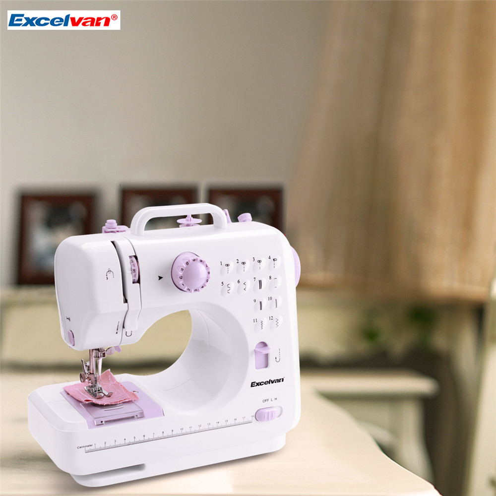 ExcelvanMini Handheld sewing machines Dual Speed Double Thread Multifunction Electric Automatic Tread Rewind Sewing Machine Gift7