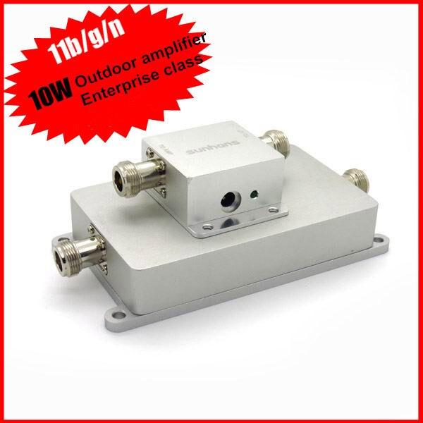 Via DHL & FedEx & EMS Original Sunhans SH24Go10W 10W 40dBm 2.4GHz Wireless Signal Repeater Outdoor WiFi Signal Amplifier