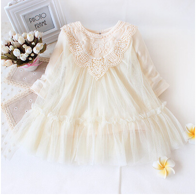 Retail New 2017 brand newborn baby girls dress full of lace baby party dress infant babywear