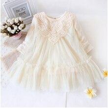 Au détail! nouveau 2017 marque nouveau-né bébé filles dress plein de dentelle bébé partie dress infantile layette enfants enfants bébé vêtements