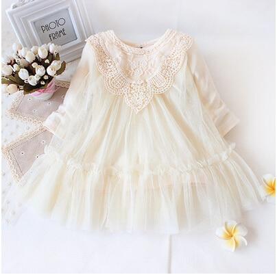 Detaljhandeln! Nya 2018 helt nyfödda bebis tjejer klär sig full av spets baby party klänning spädbarn baby kläder barn barn baby kläder