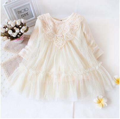 Varejo! novo 2017 marca bebê recém-nascido meninas dress completa de renda party baby dress infantil babywear crianças dos miúdos da roupa do bebê
