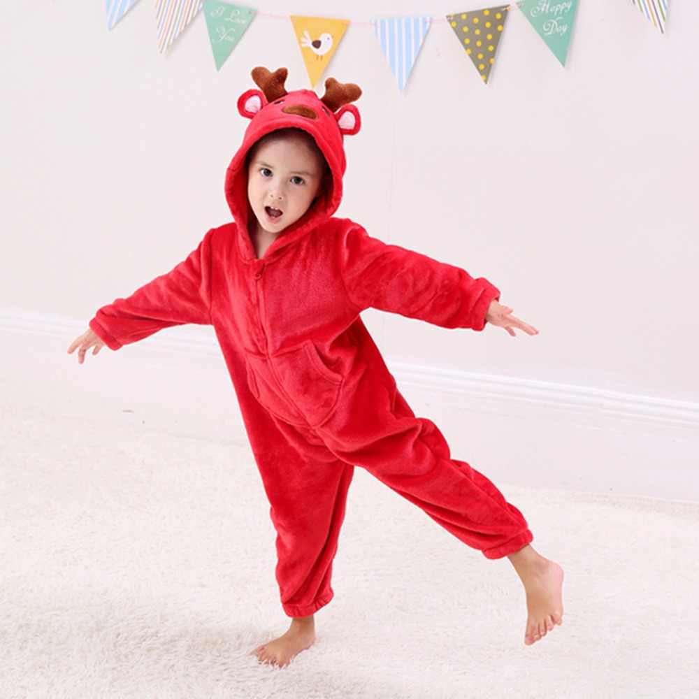 ... Little Boys Dinosaur Dragon Costume Onesie Girls Christmas Reindeer  Costumes -Kids Fleece Pajamas ... b5660ad70
