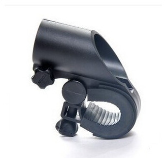 By DHL 200PCS Portable Cycling Bike Bicycle Light Lamp Stand Holder Rotation Grip LED Flashlight Torch