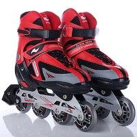 Adult kids Inline Skates shoes with hook and loop, ABEC 7 bearing adult skates, PVC brake adults roller skates, adjust skates