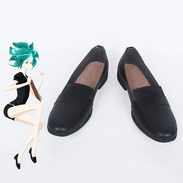 edec2b81936d Anime Land of the Lustrous Cosplay Shoes Phosphophyllite Cinnabar Diamond  Bort Morganite Black Shoes Cosplay Shoes Customized