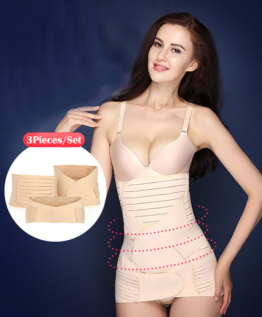 3 Pieces/Set Belly belt&Waist Belt&Pelvis Shapers Postpartum Belly Band Maternity Postpartum Bandage Shapewear Belly Sculpting