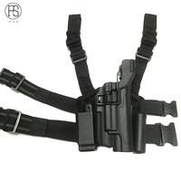 FS Tactical Right Hand Military Gun Colt 1911 Holster Belt w/ Paddle For Hunting With Flashlight
