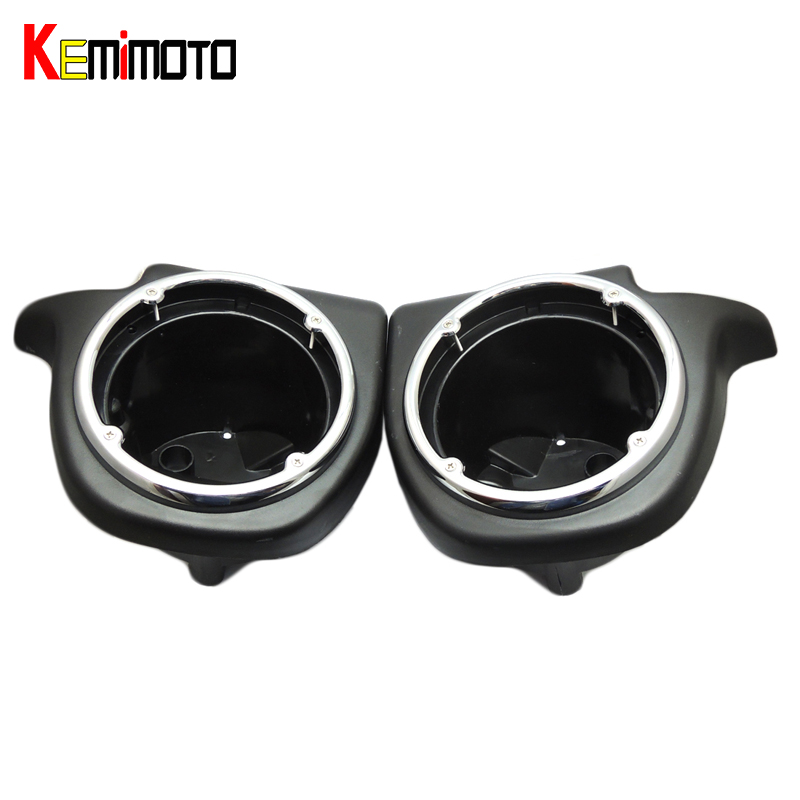 KEMiMOTO Lower Vented Leg Fairing 6.5 Speaker Box Pod For Harley Touring Glide FL Road Street Electra Glide Touring 1993-2013