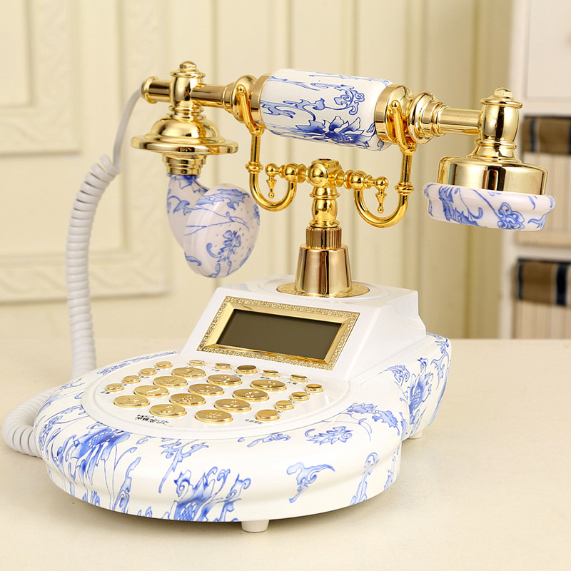 Ye are the top European Garden antique landline retro Home Office telephone Decoration home art rustic phone household