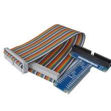 Miroad RPi GPIO Breakout Expansion Board + Ribbon Cable for Raspberry Pi 3 2 Model B & B+ Assembled T Type GPIO Adapter SC05