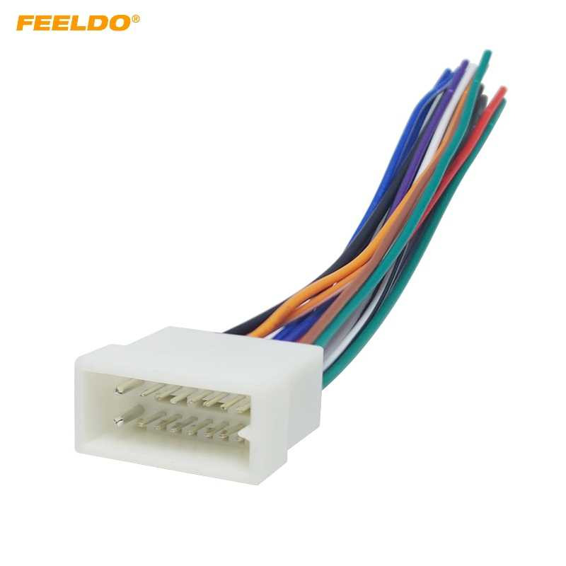 FEELDO 1PC Car 16pin Wire Harness Plug Cable Connector For MITSUBISHI/GALANT on