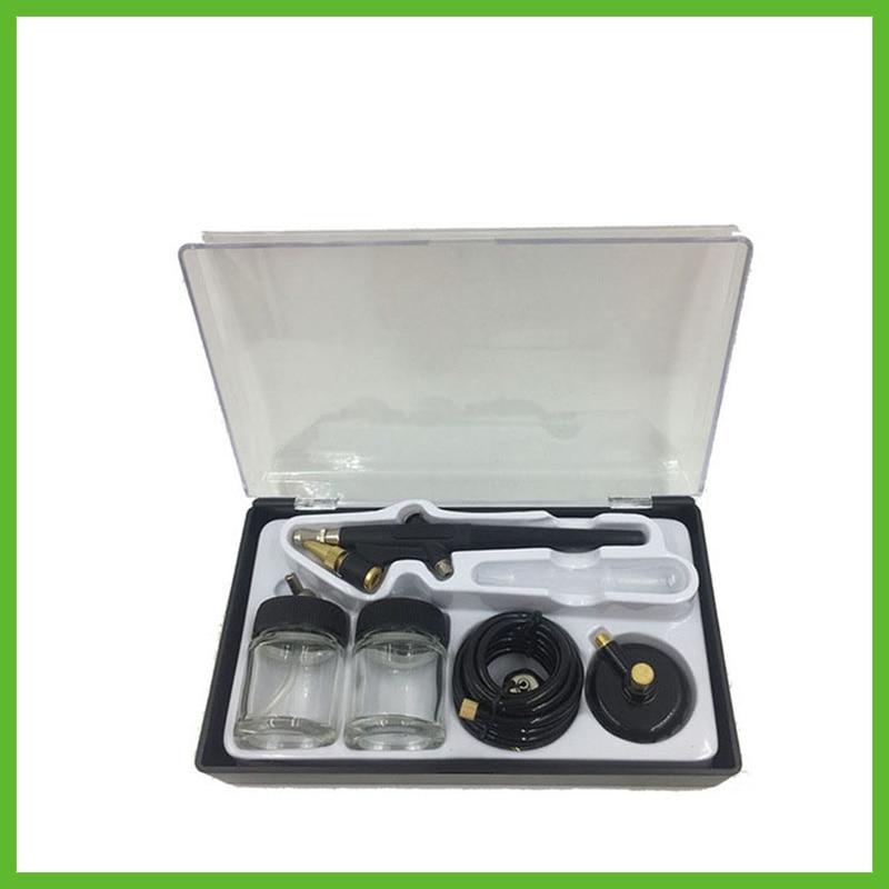 цена на SAT5115 airbrush double action Kits Nozzle 0.8mm Air Brush Pressure Airbrush Tools Diy For Cake Painting Painting Mini Gun