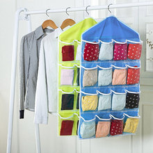 Home 16 Pockets Wall Wardrobe Hanging Organizer Sundries Jewelry Storage Bags Underwear Cosmetics Hanger Organizer MYDING