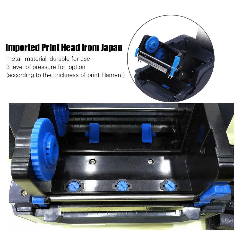 Gprinter термопередача чековый принтер для печати штрих-кодов 300 точек/дюйм Высокое разрешение 104 мм ширина печати для склада в розницу