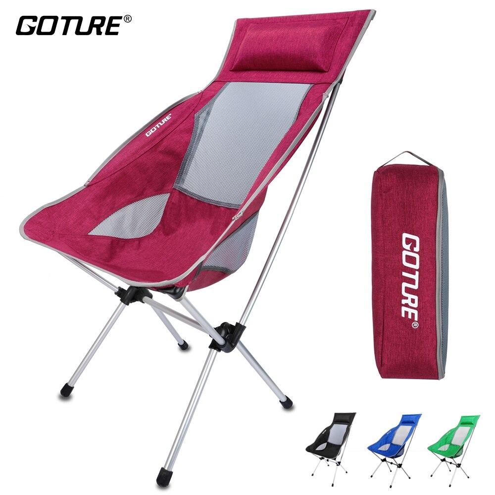 Goture складной стул для рыбалки Максимальная нагрузка 150 кг супер легкий с сумкой для рыбалки кемпинг стул пикник Вечерние