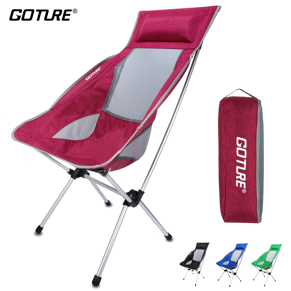 Goture Folding Fishing Chair Max Load 150kg Super Lightweight with Carrying Bag for Fishing Camping Chair Picnic Beach Party fishing chair beach chair portable folding stools chair cadeira max load bearing 150 kg