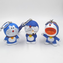 2017 Real Hot Sale Unisex Trendy Animal Monchichi Porte Clef Anime Keychain Doraemon Toys Pendant Caartoon Keyring Llavero