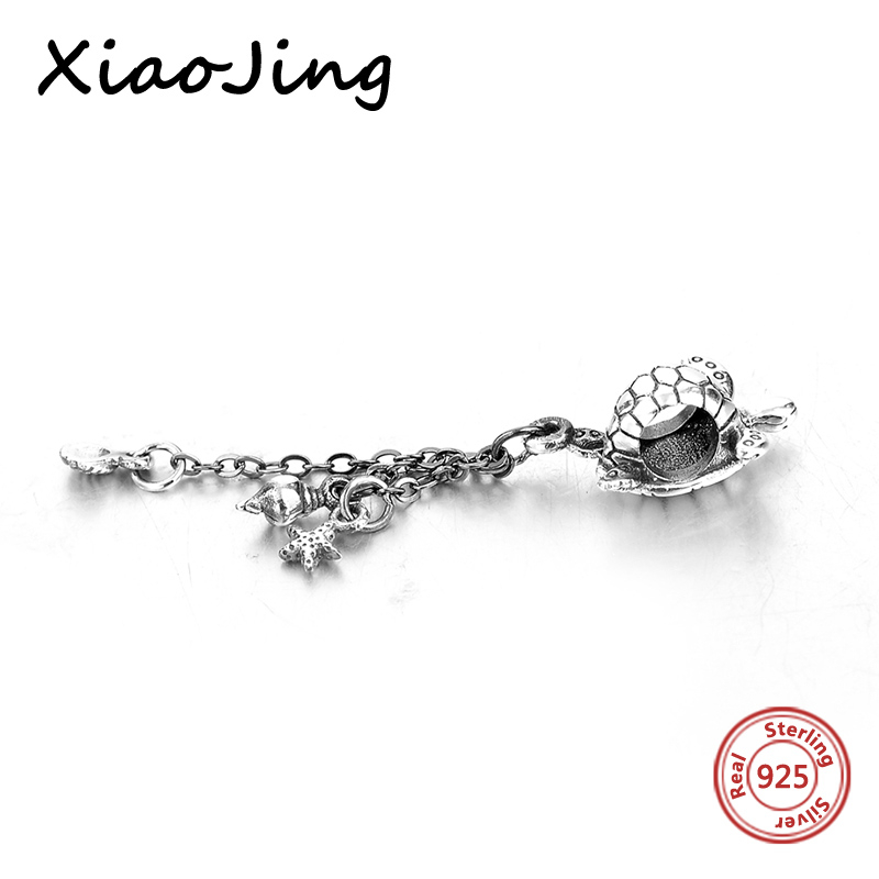 Cute Design 100 925 Sterling Silver Tortoise Animal Bead fit Pandora Charm Bracelet Bangle DIY Fine Jewelry free shipping in Beads from Jewelry Accessories