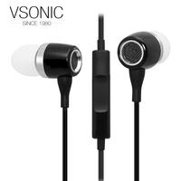 VSONIC VSK3 microhone Original HIFI In-line control Earphones 3.5mm Earphone 1.3m Music Stereo For Smartphone