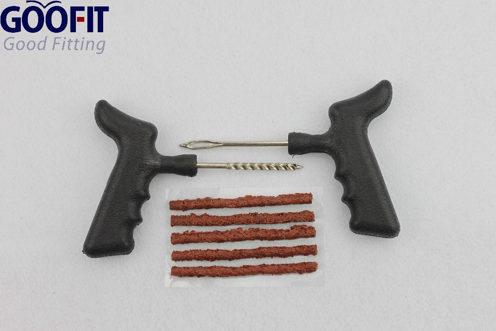 GOOFIT Tire Repairing Tools T Handle Grasper Needle Tool Rubber Strip Tubeless Kit A012 030