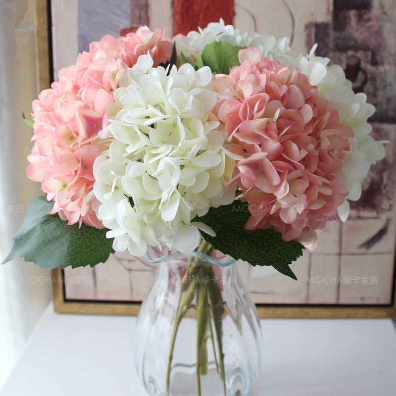 Plants Silk Cloth Artificial Flowers Hydrangea Simulation Flowers Bouquets