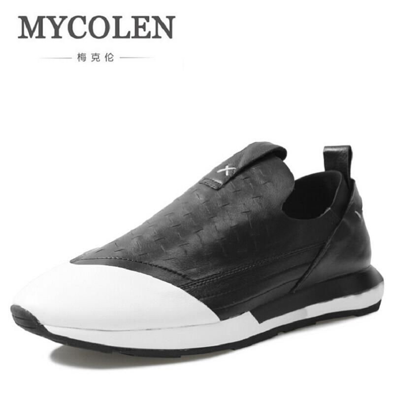 MYCOLEN 2017 New Arrivals Men's Casual Sneakers Spring Autumn Fashion Comfort Flats For Men Breathable Lace-Up Males Shoes Adult spring autumn casual men s shoes fashion breathable white shoes men flat youth trendy sneakers