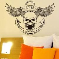 Projeto da arte Águia Voando Adesivo De Parede Crânio Do Punk Rock Crânio Personalidade Criativa de Decoração Para Casa Decalque Da Parede Para Sala de estar