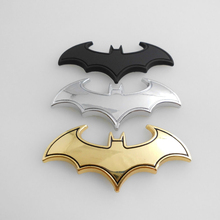 OC3D-12 Chrome 3D Batman Metal Auto Car Motorcycle Logo Sticker Badge Emblem Tail Decals