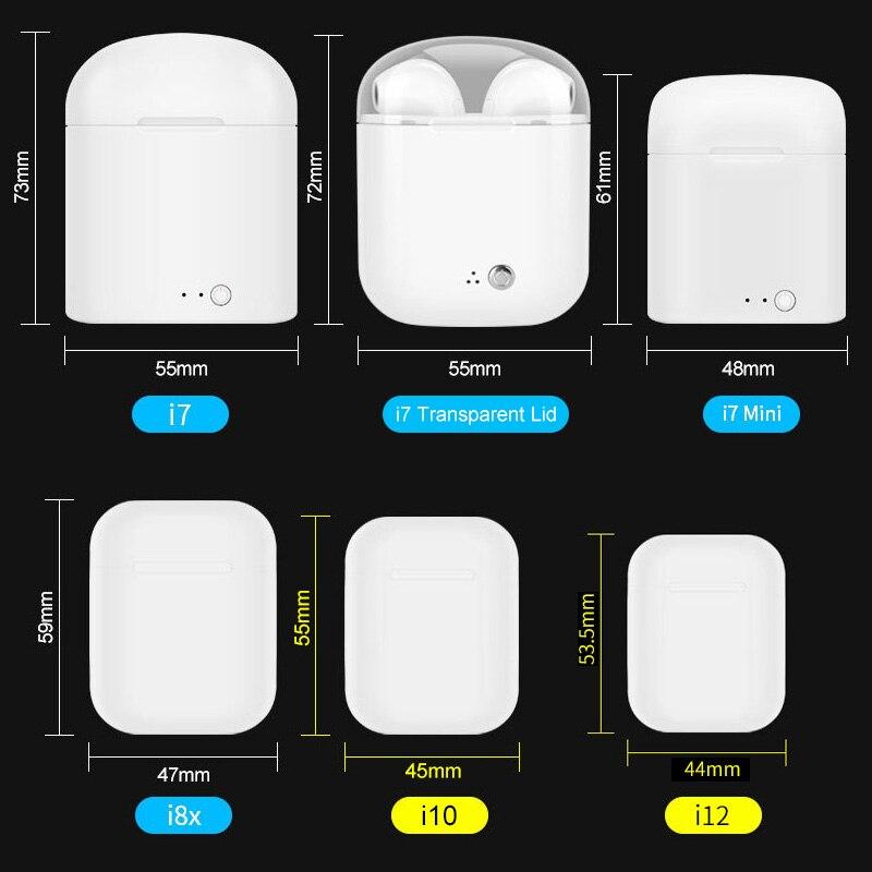 IBesi Original i12 Tws Bluetooth écouteurs 5.0 écouteurs sans fil casque tactile contrôle casque i12 Tws Mini pour iPhone Xiaomi - 6
