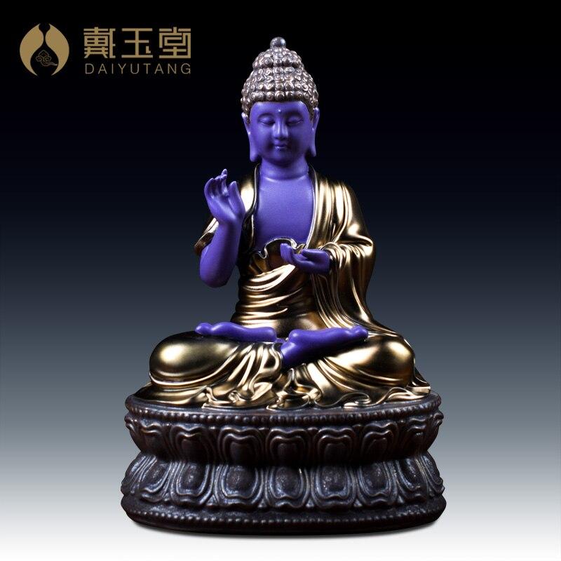 Даи ютанг тантрическая буддистская медицина Будда обеты мастера стеклянная световая скульптура/аптекарь Будда D41 55