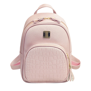 Image 2 - Women backpack leather school bags for teenager girls stone sequined female preppy style small  bag