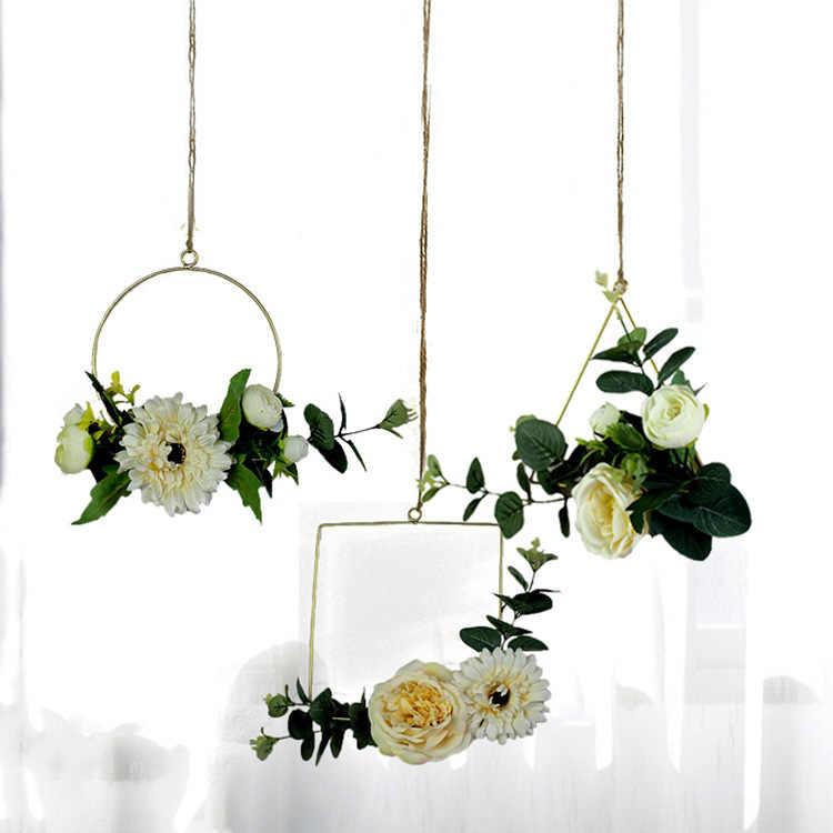 Wind Chimes ประดิษฐ์ดอกไม้กำแพง Hangings กัญชาเชือกเครื่องประดับร้านอาหารผนังตกแต่ง Habitacion Wind Chimes ตกแต่ง