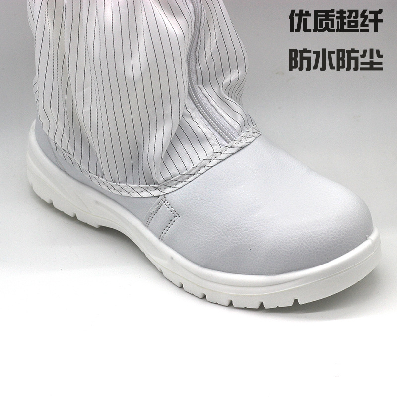 Bianco scarpe di sicurezza anti statica di alta tubo lungo stivali anti static anti acaro della polvere trasporto scarpe di sicurezza elettrica scarpe di depurazione - 4
