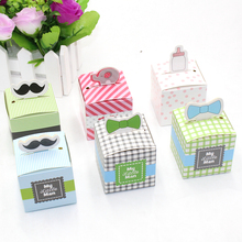 50pcs Cartoon baby shower candy box, ducha del bebe Gift Box, baby birthday chocolate box,Baby Shower favor candy pack
