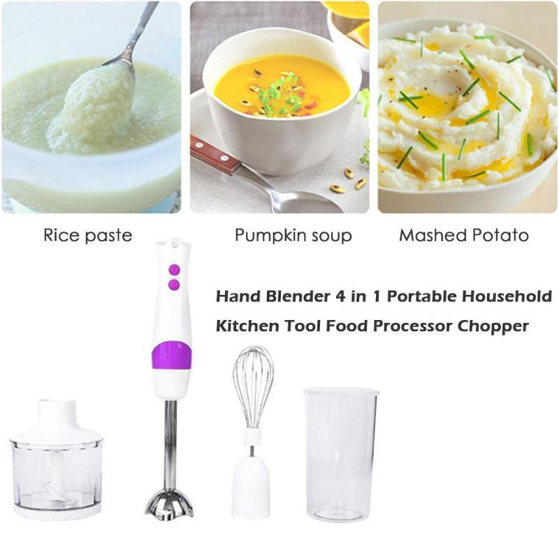 Ручной блендер 4 в 1 портативный бытовой кухонный инструмент кухонный комбайн измельчитель детские пищевые комбинаты контейнеры для кормления принадлежности для хранения