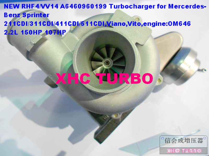NOVÝ RHF4 VV14 VF40A132 A6460960699 Turbodmychadlo s turbodmychadlem pro Mercedes-BENZ SprinterI Viano Vito OM646 DE22LA 2.2L 107HP 150HP