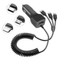 Für Typ-c ladegerät auto für android schnelle quick charge mit kabel für iphone USB Auto Telefon Ladegerät Für samsung Xiaomi Redmi Hinweis 7