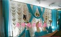 2017 водопад свадебные фоны, свадебная сценическая драпировка цвет можно изготовить под заказ