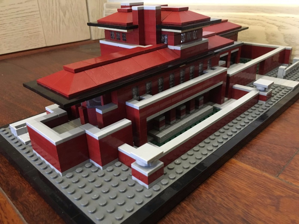 lepin Genuine Architecture  17007  The Robie House Model Building Blocks Bricks Children Educational Toys Christmas 21010 Gift loz blocos building blocks architecture model rockefeller center toys for children forge world city house buildings bricks 1003