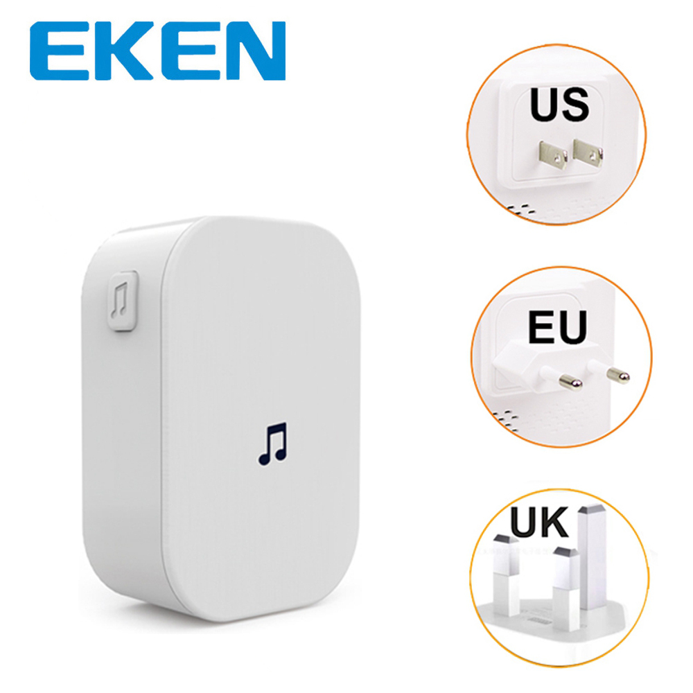 EKEN Wireless Doorbell Indoor Chime For EKEN V7 V6 V5 Wifi Doorbell Receiver Ding Dong