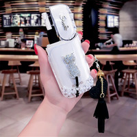 Japan IQOS electronic cigarette case Rhinestones Style with Black/White Cat High Quality iqos case for iQOS E Cigarette kit