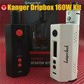 Оригинал Kangertech Dripbox 160 Вт Комплект Емкость 7 МЛ Subdrip RDA Распылитель 160 Вт TC Dripmod Kanger Dripbox 160 Вт комплект Электронной сигареты