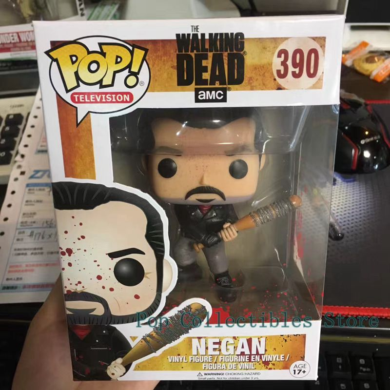 Exclusive Funko pop Official Horror Movies: Walking Dead - Negan Bloody With Lucille Vinyl Action Figure Collectible Model Toy funko pop official movies moana maui pvc action figure toys 2017 new 100% original pop toy for children baby gift comes with box
