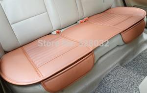 Image 4 - 대나무 자동차 좌석 쿠션 숯 가죽 자동차 모 놀리 식 커버 뒷좌석 뒷좌석 사계절에 적합 1pcs 뒷좌석