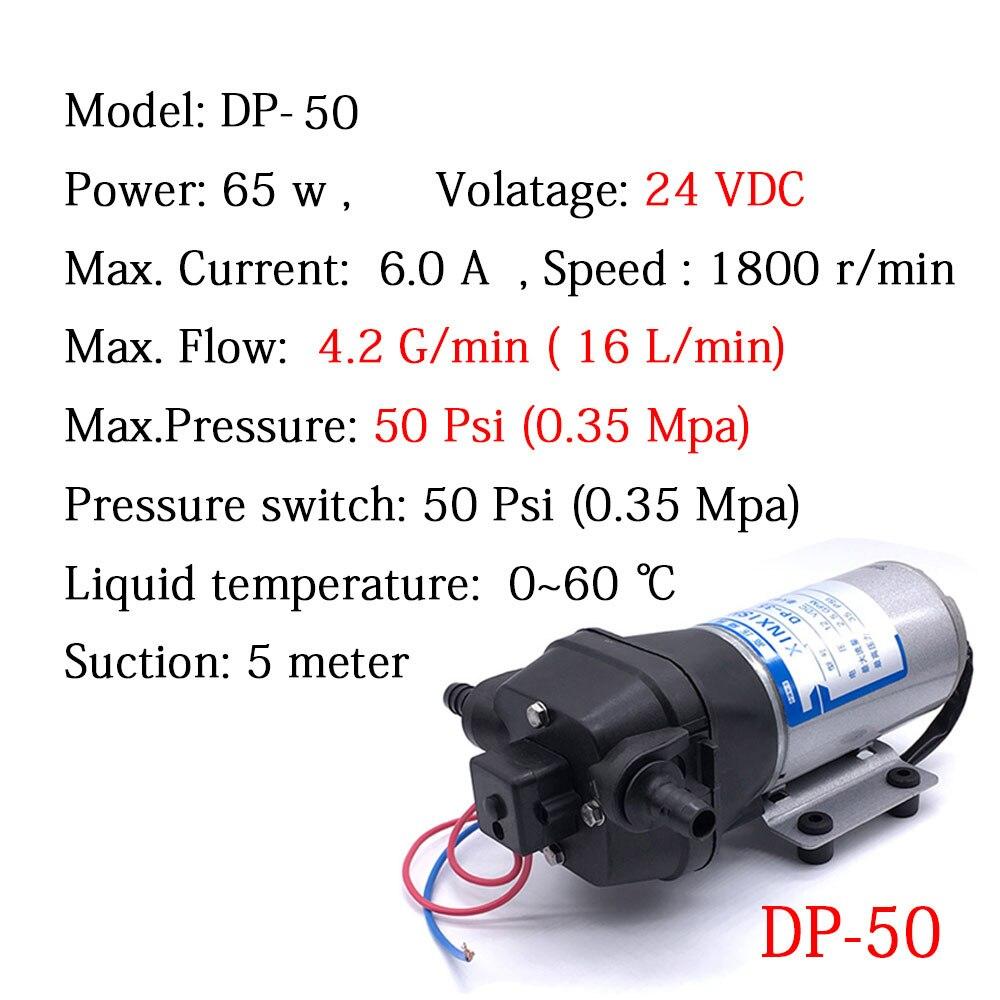 CE a approuvé le DP-50 de pompe à eau de vide de diaphragme Micro DC 24 V 16L/min