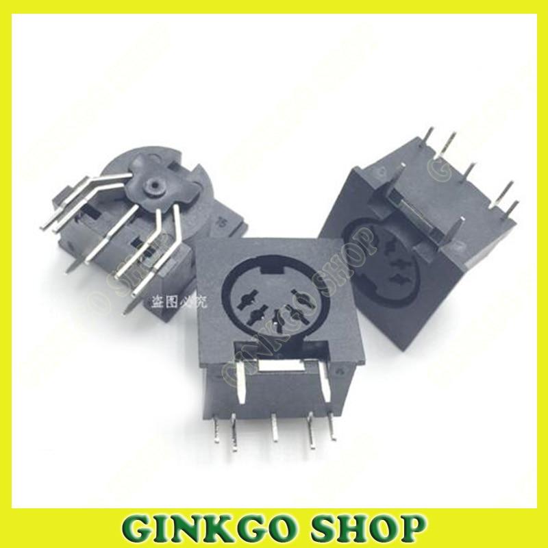 100 teile/los 5 Cord 5 Pins Din-steckverbinder S Termainal für PS2 Weibliche Maus Jack Terminal-anschluss